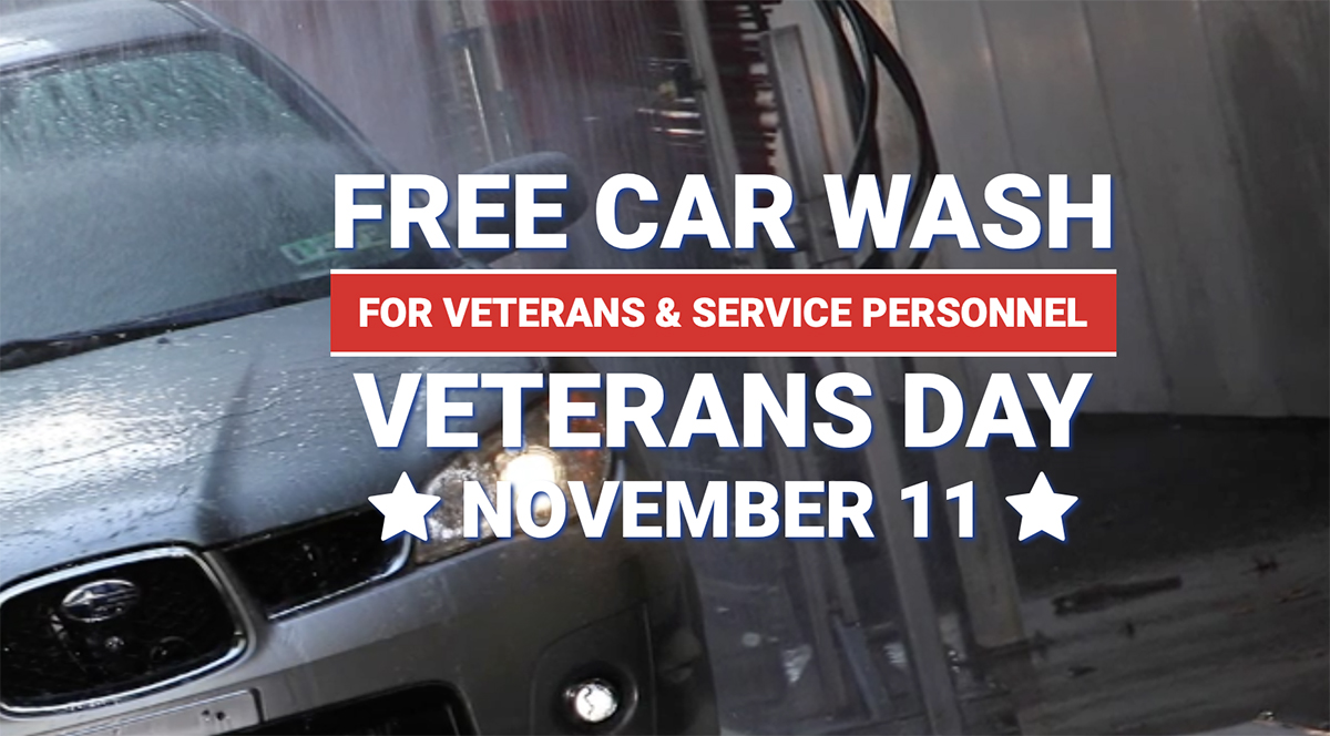 Join Grace For Vets In Offering Free Car Washes To Veterans November 11th